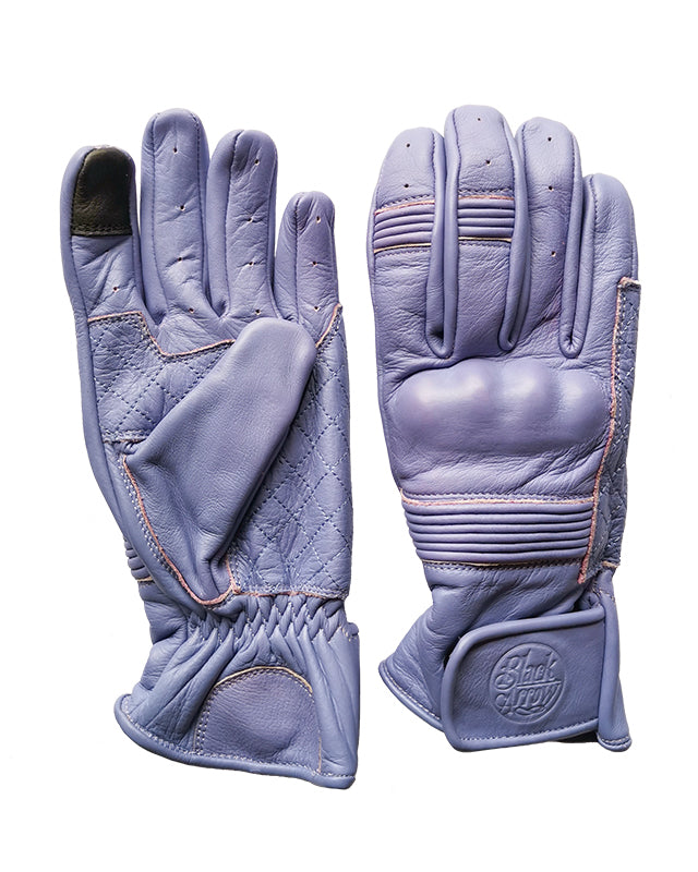 Queen Bee Motorcycle Gloves LILAC