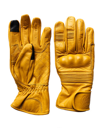 Queen Bee Motorcycle Gloves SAFFRON