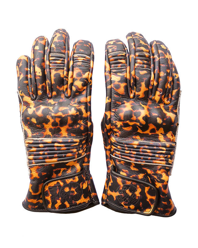 Queen Bee Motorcycle Gloves TORTOISESHELL PRINT