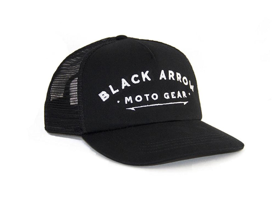 Black Arrow Trucker Cap - Black Arrow Moto Gear