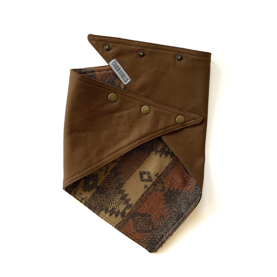 Brown Bull Denim/Buffalo Run Knit Bandana - Black Arrow Moto Gear