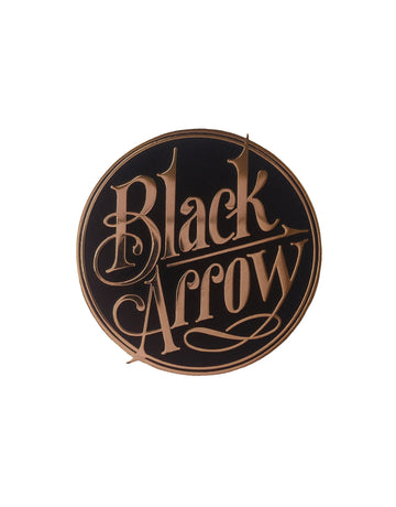 Black Arrow Enamel Pin - Black Arrow Moto Gear