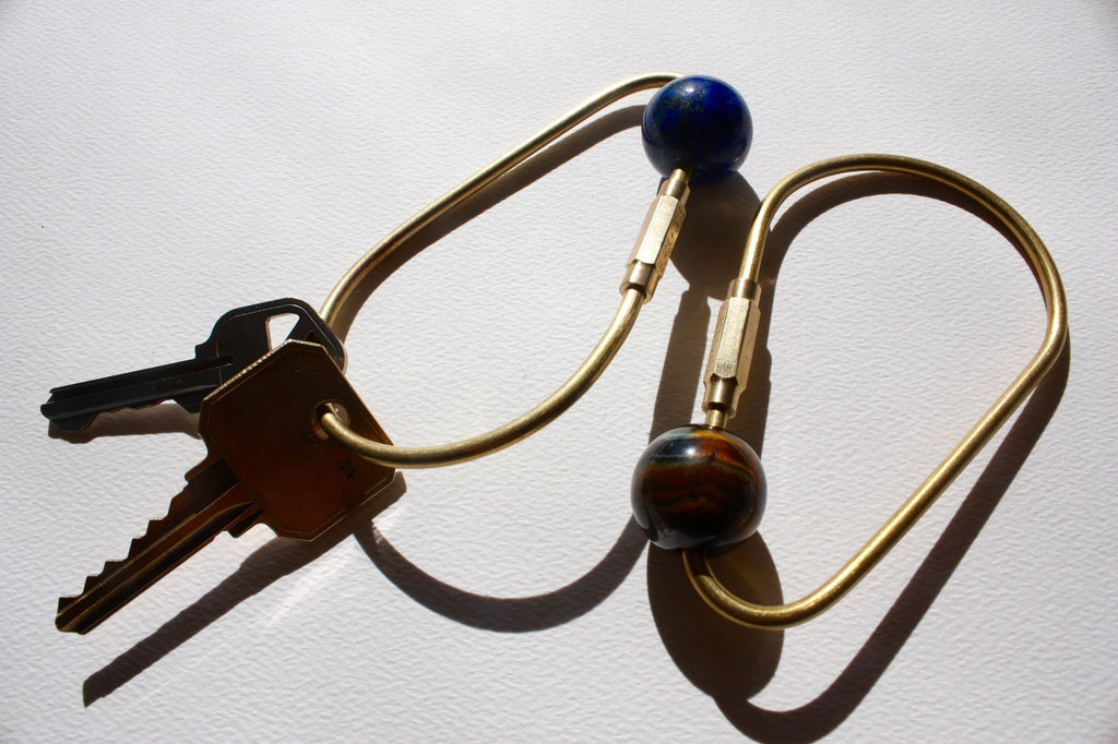 Handmade Brass Teardrop Key Ring