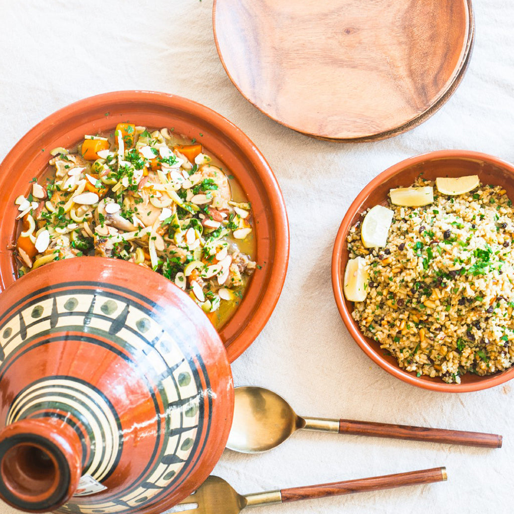 "MOROCCAN CHICKEN TAGINE WITH CAULIFLOWER ""COUSCOUS"""