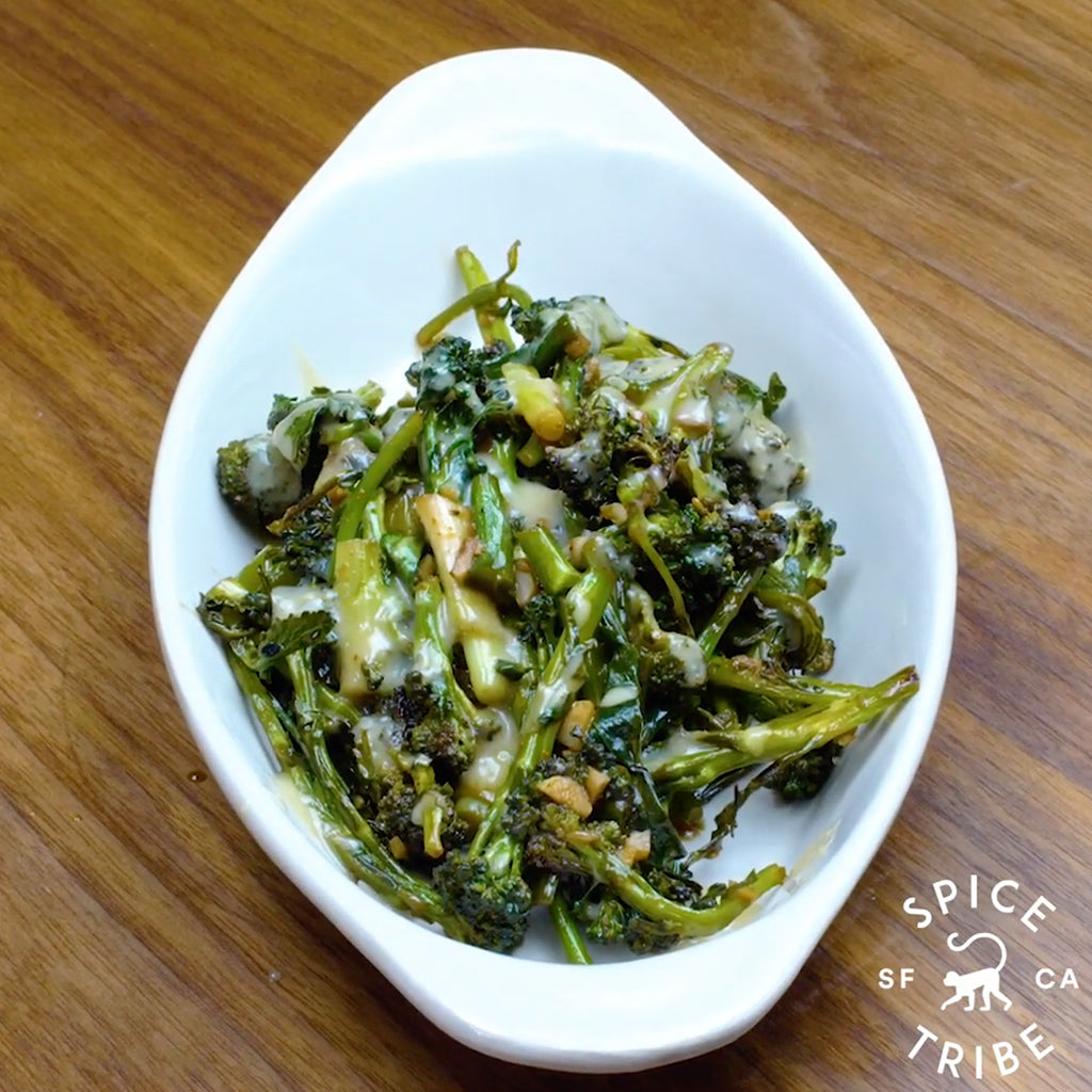 Miso Mustard Broccoli with Kissed By Binchotan