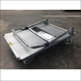 Foldable platform trolley 250kg capacity aluminum 900*610mm