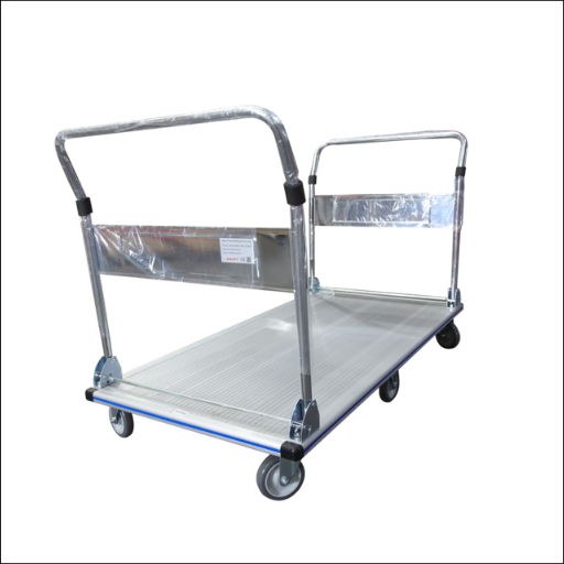 DOUBLE HANDLE FOLDABLE PLATFORM TROLLEY CAPACITY 350KG ALUMINUM