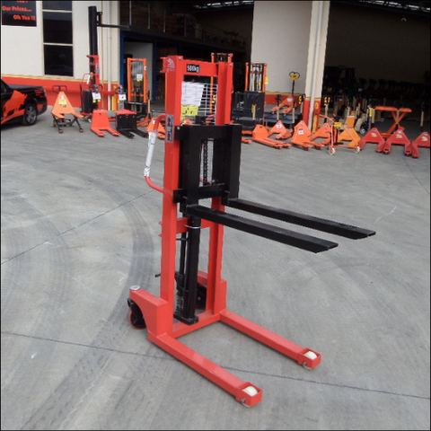 Mini Hand Pallet Stacker 500kgs