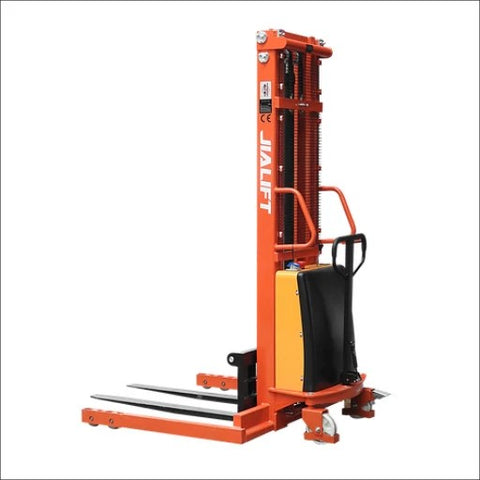 Semi Electric Walkie Stacker Lifter Lifting 3000mm 1.5T Straddle Leg