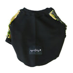 Green & Black Sequin Dog Jumper