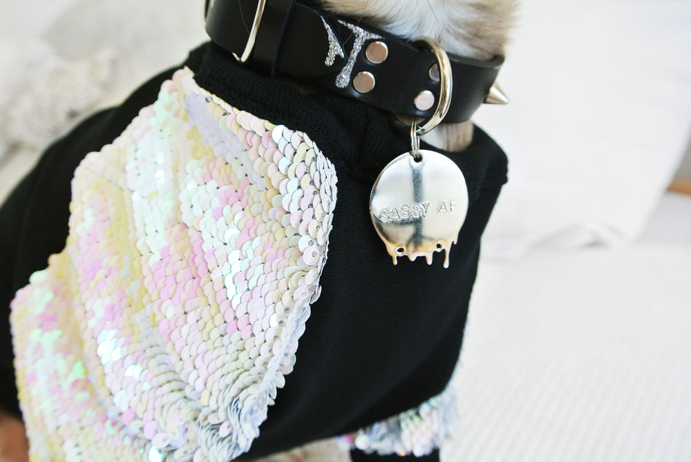 Irridescent Sequin Dog Top- LIMITED EDITION
