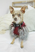 Crimped Faux Fur Dog Jumper