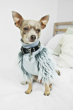 High neck Grey Faux Fur Dog top- XS only