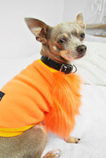 Orange Faux Fur Dog Top