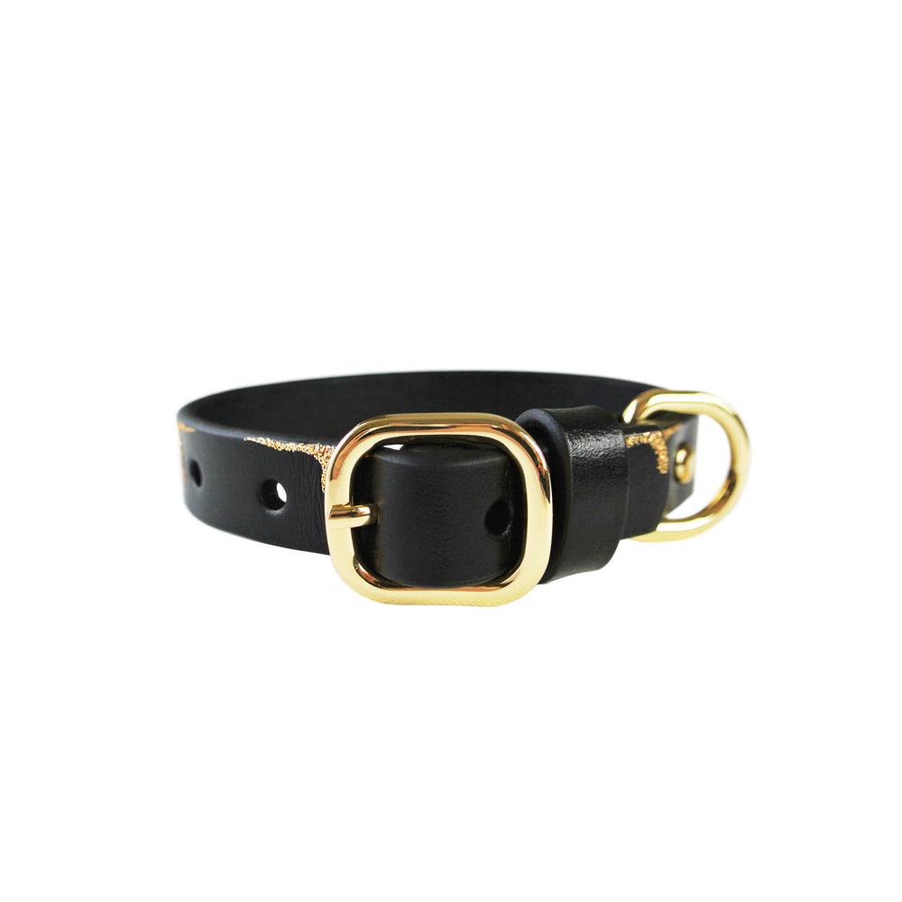Dripping in Gold Dog Collar - with or without Spikes