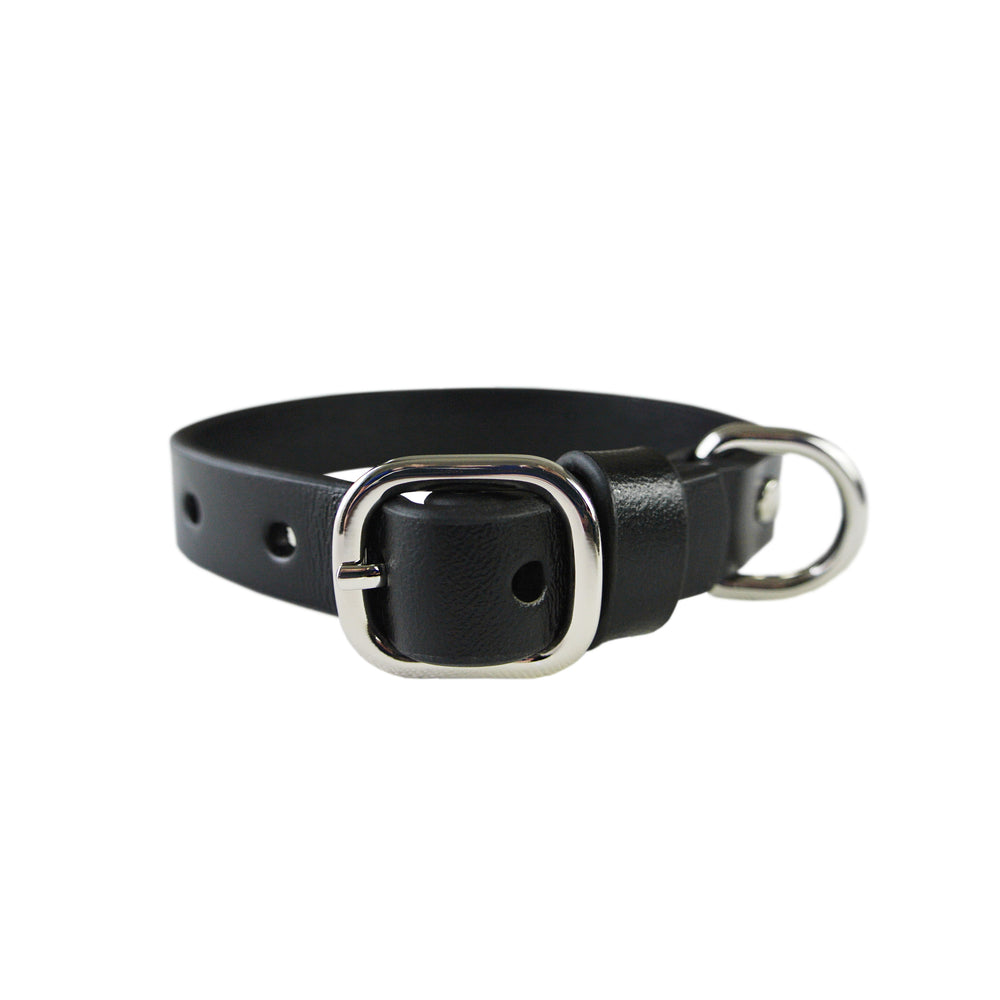 Classic Black Collar - With or without Spikes