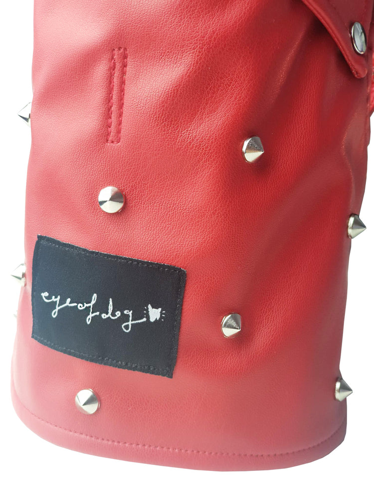 Red Moto Vest- Classic or ADD Spikes