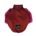Sweet Plum Faux Fur Dog Jumper