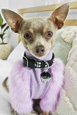 LILAC FAUX FUR DOG JUMPER