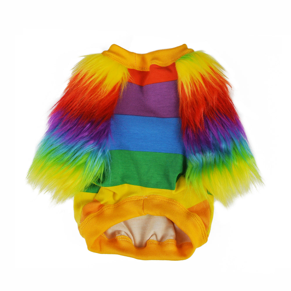 Rainbow Faux Fur Dog Top