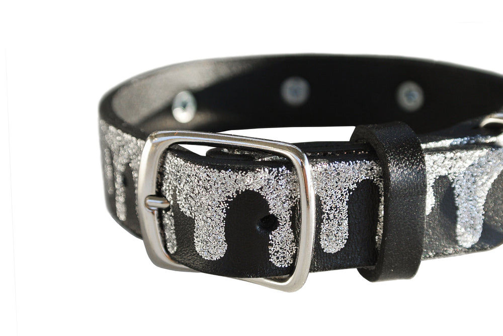 Melting Black Glitter Collar