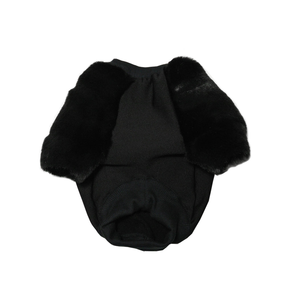 Black Everythang Faux Fur Dog Jumper