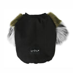 Olive & Grey Faux Fur Dog Jumper