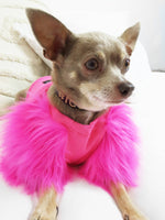Candy Faux Fur Dog top.