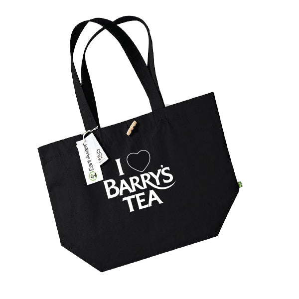 **NEW**  I LOVE BARRY'S TEA BLACK SHOPPING BAG