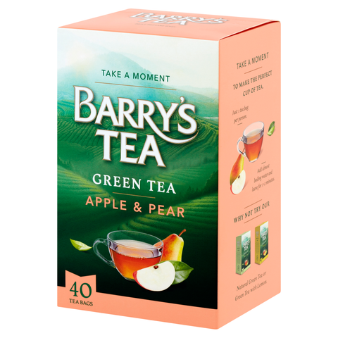 GREEN TEA WITH APPLE & PEAR 40 TEABAGS