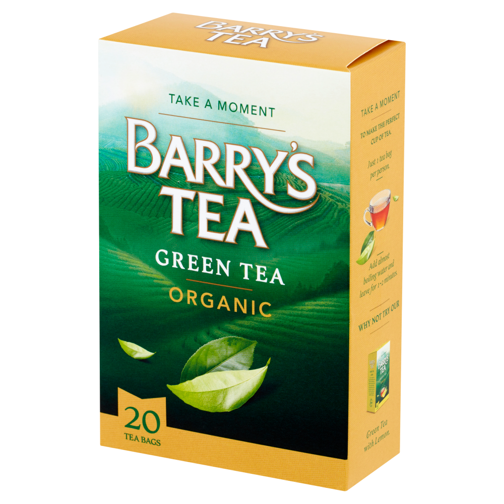 ORGANIC GREEN TEA 20 TEABAGS