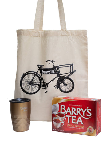 **NEW** ON THE GO BUNDLE - GOLD 80s, BRONZE TRAVEL MUG & BICYCLE TOTE BAG