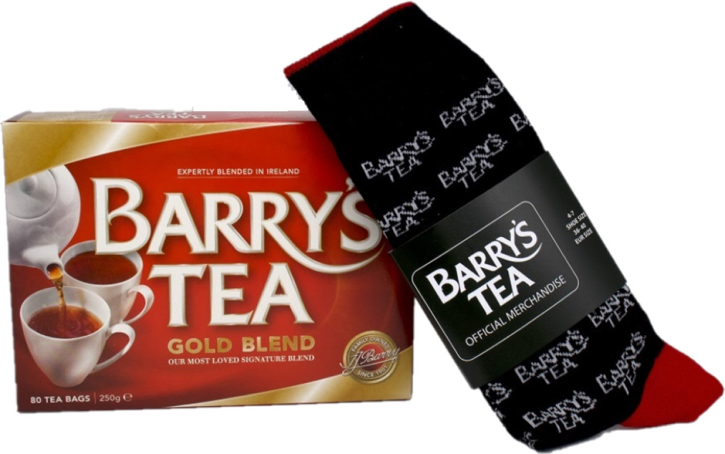 **NEW** SOCKS & TEA BUNDLE - GOLD 80s & SOCKS