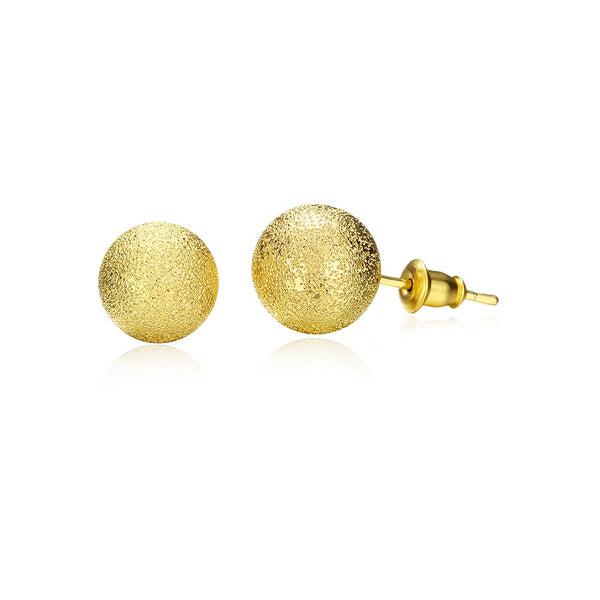 Ball Stud Earrings Yellow Gold