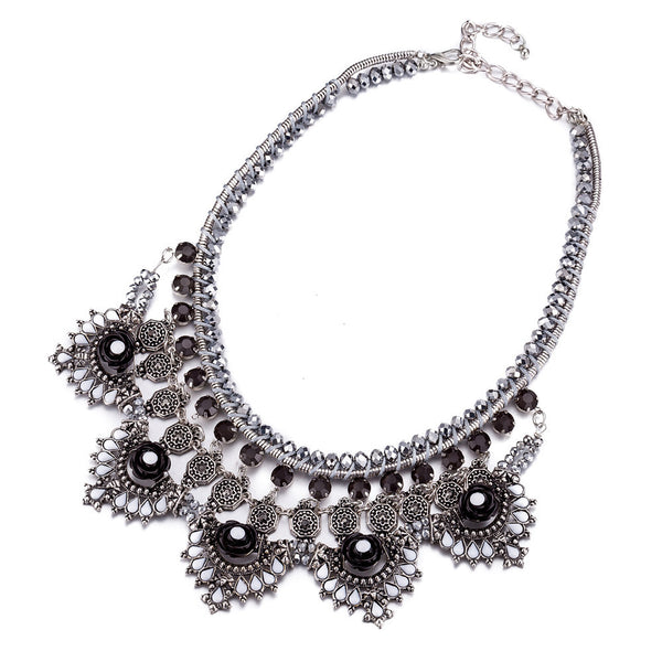 Big Chunky Silver Statement Necklace