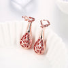 Beautiful Teardrop Dangle Earrings Rose Gold