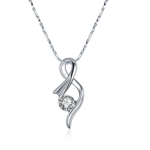 Abstract Shape Pendant Necklace