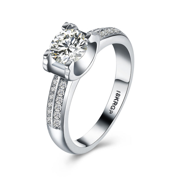 18K White Gold Ring