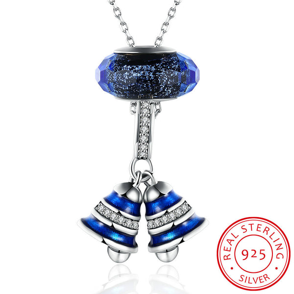 Blue Bell Pendant Necklace