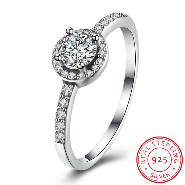 925 Silver Diamond Ring