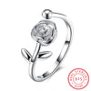 Blooming Rose Flower Ring