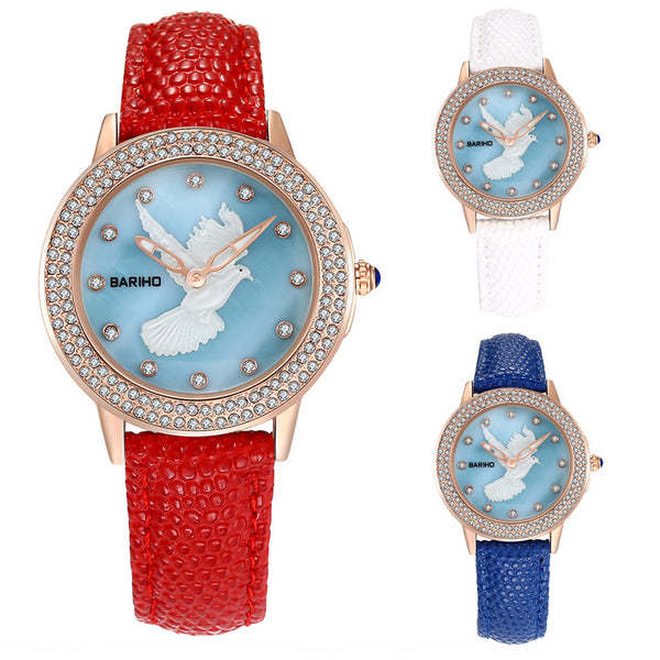 Dove Pattern Quartz Watch