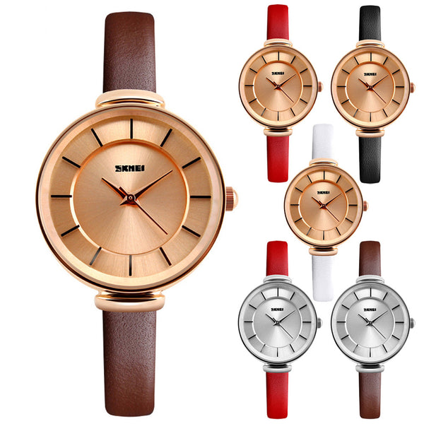 Gold Quartz Watch Waterproof