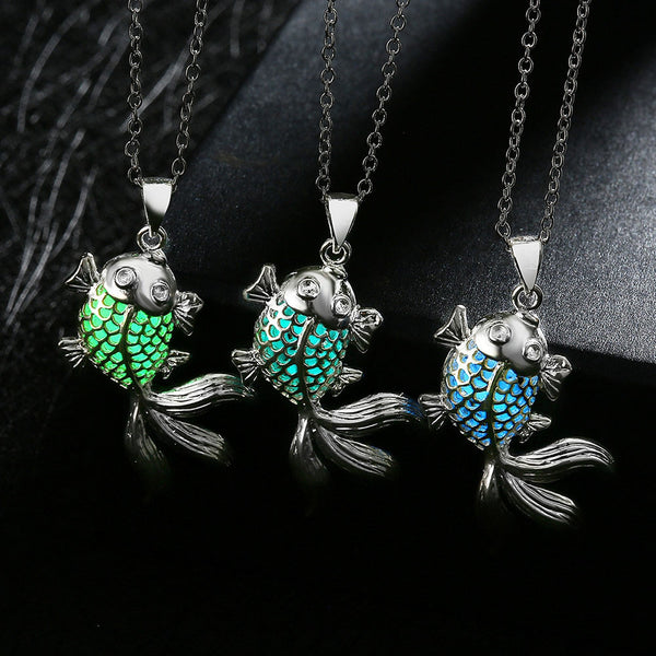 Cute Fish Luminous Pendant Necklace