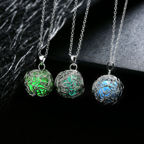 Glow Ball Pendant Necklace