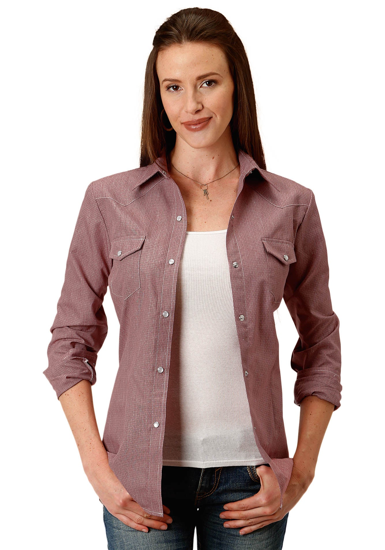 POLY COTTON WOMENS WINE 9892 WINE CROSSHATCH TONE ON TONE TONE ON TONE SOLID
