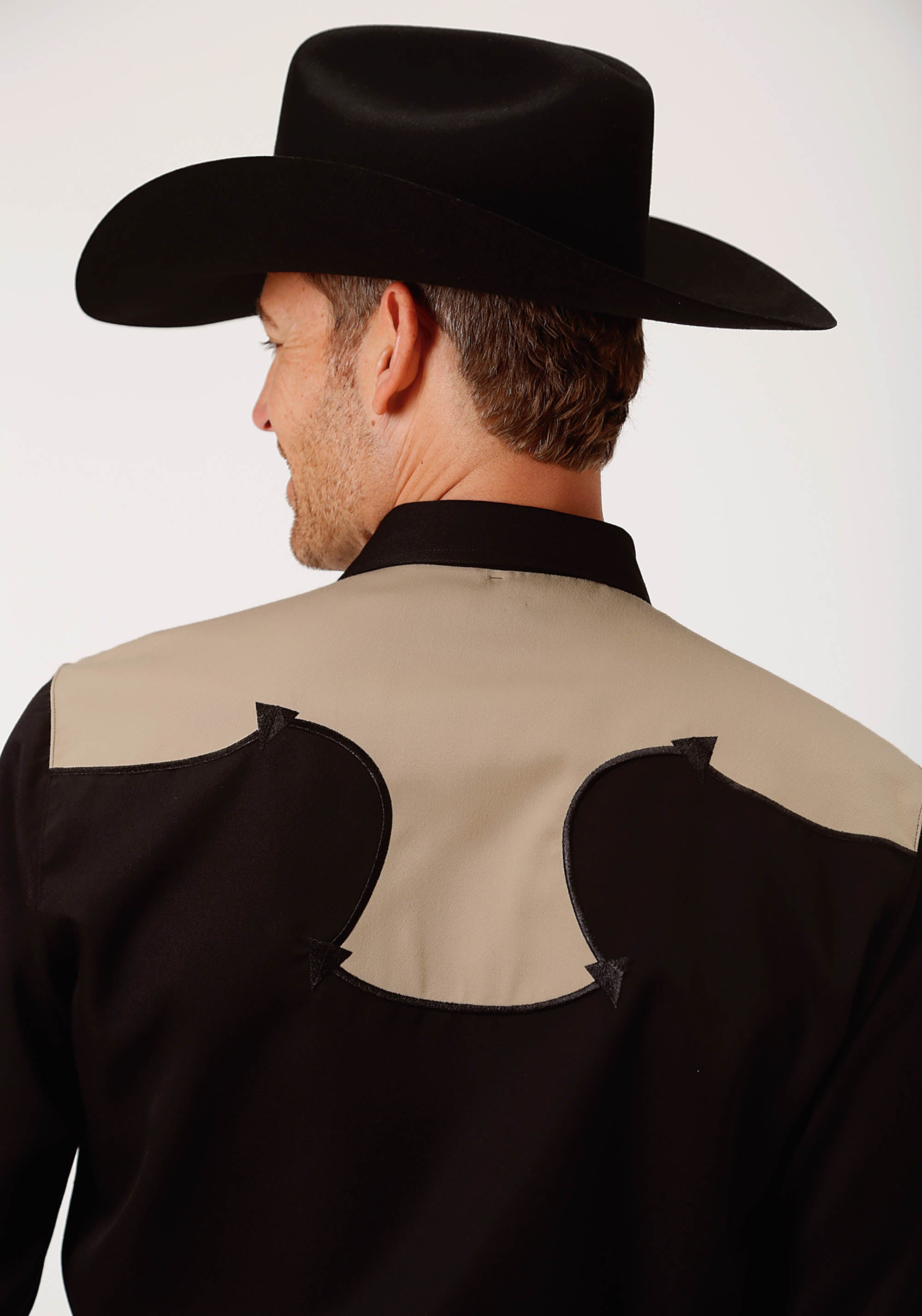OLD WEST MENS BLACK 3800 POLY RAYON SHIRT