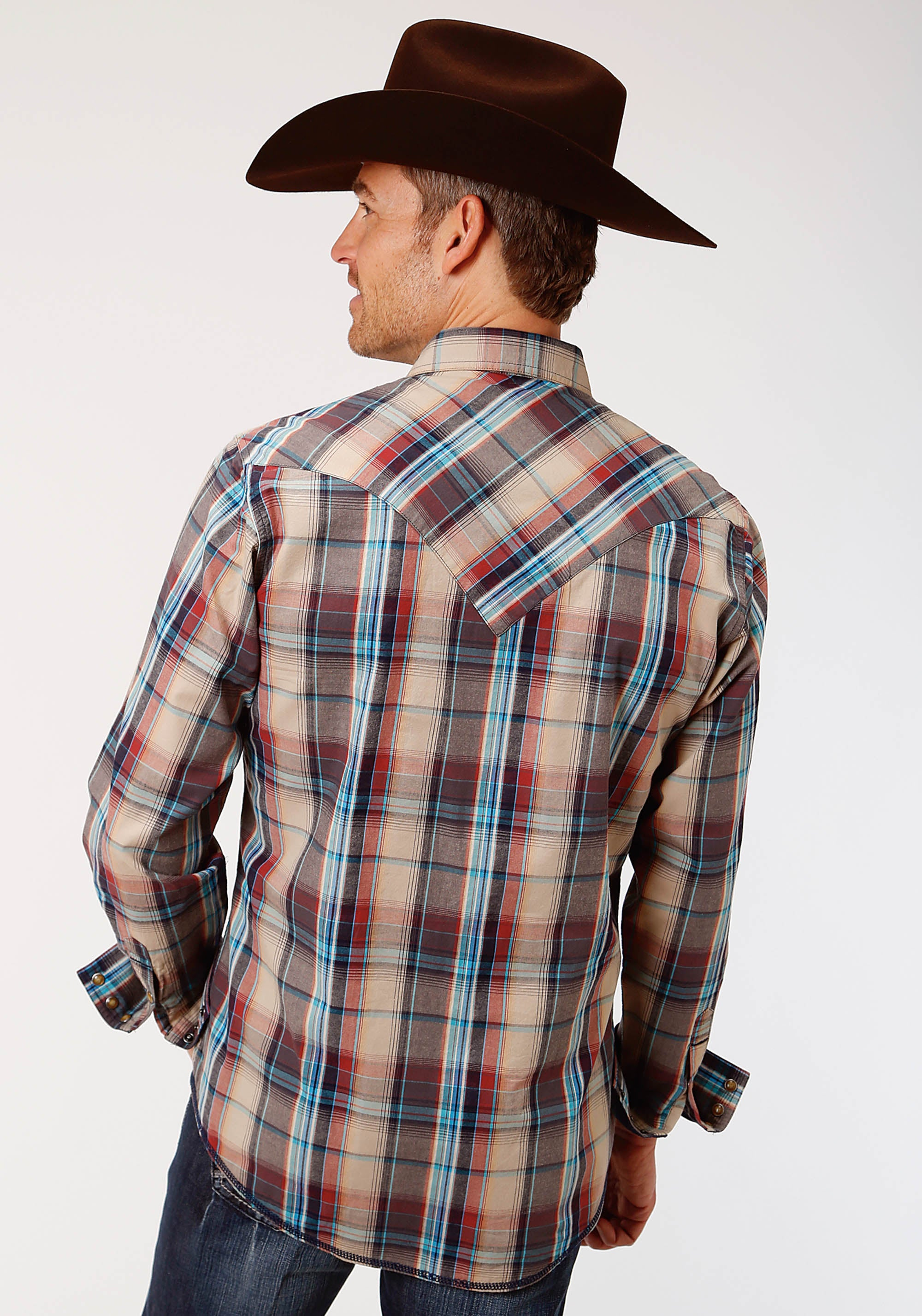 WEST MADE MENS BROWN 0738 DUSK PLAID