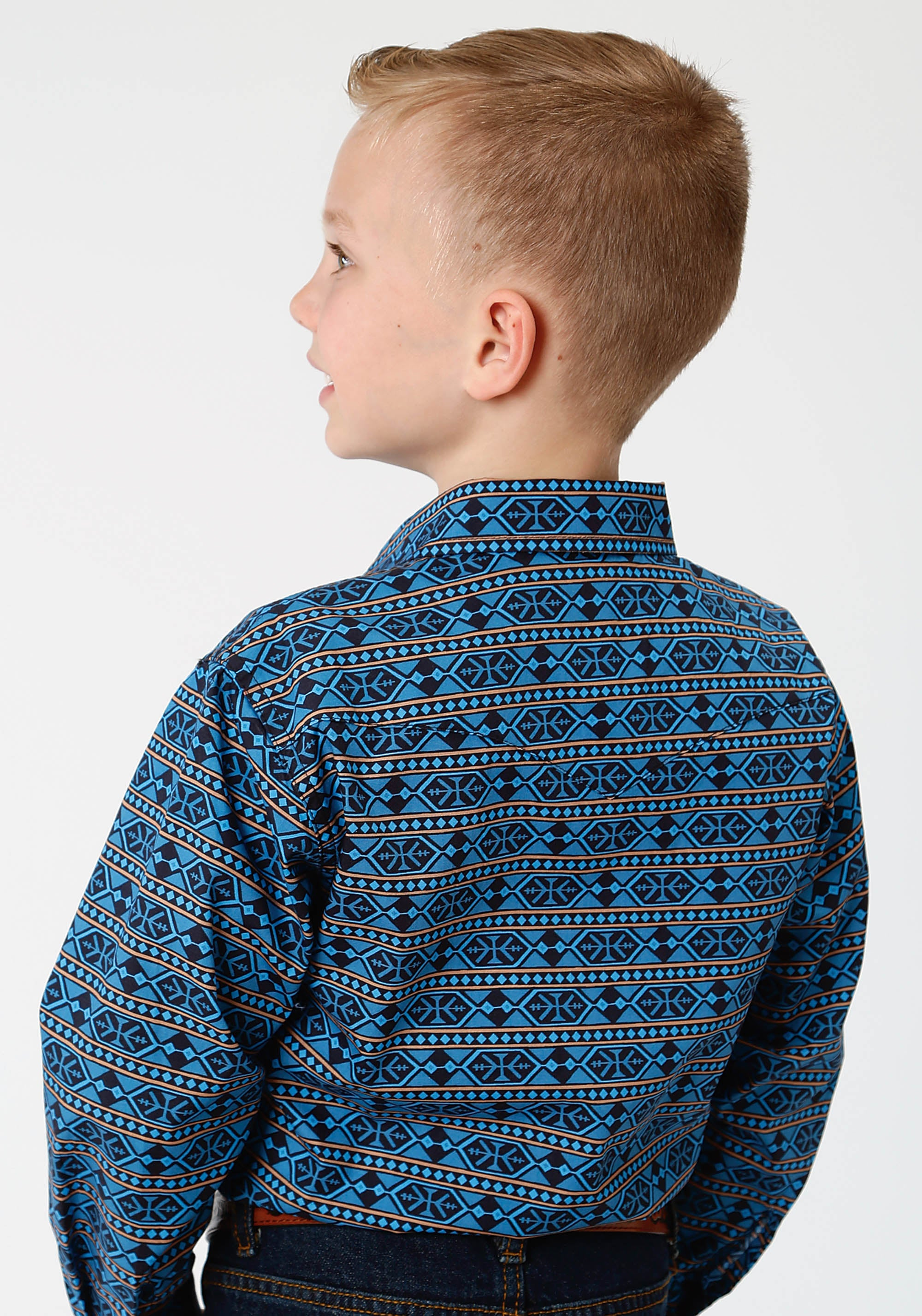 WEST MADE BOYS BLUE 0810 HEX AZTEC PRINT