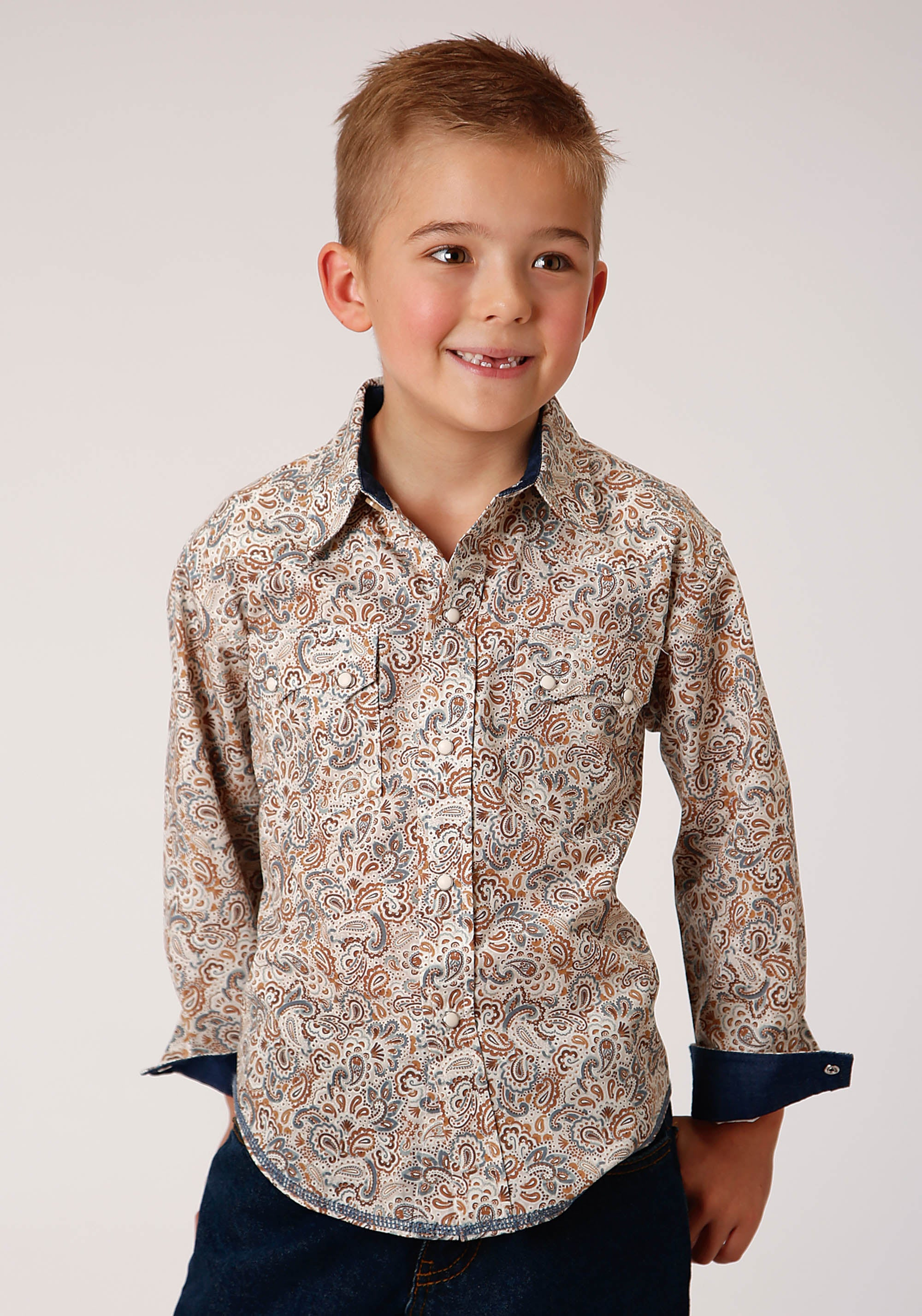 WEST MADE BOYS BROWN 00319 GRAND DAD'S PAISLEY